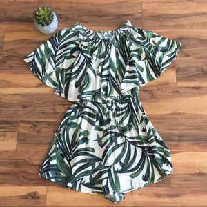 Show Me Your MuMu Palm Ruffled Rosarita Romper